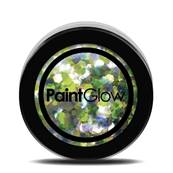 Paillettes  Holographique N°01 UV lucky lepricorn  13ml PAINTGLOW