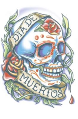 Tatouage DOD105 day of the dead rosa TINSLEY