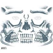 Tatouage kit face skull N°411 TINSLEY